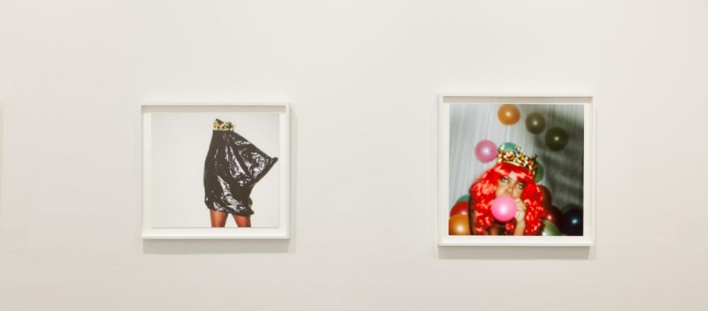 NGV Triennial 2020 installation view of Phumzile Khanyile's Plastic Crowns series 2016, National Gallery of Victoria, Melbourne. Bowness Family Fund for Photography, 2019